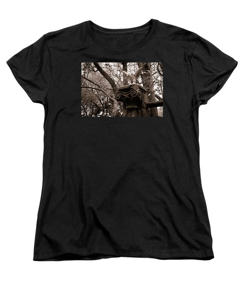 Garden Gargoyle  Women's T-Shirt (Standard Cut) by Toni Hopper
