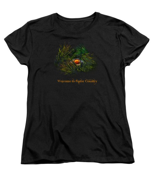 Gator Country  Women's T-Shirt (Standard Cut) by Mark Andrew Thomas