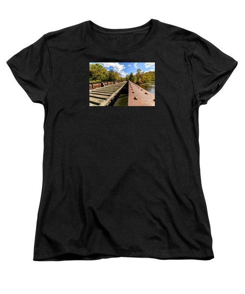 Gauley River Railroad Trestle Women's T-Shirt (Standard Cut) by Thomas R Fletcher