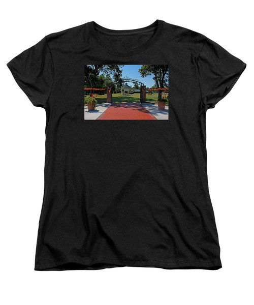 Women's T-Shirt (Standard Cut) featuring the photograph Gazebo At Celebration Park by Judy Vincent