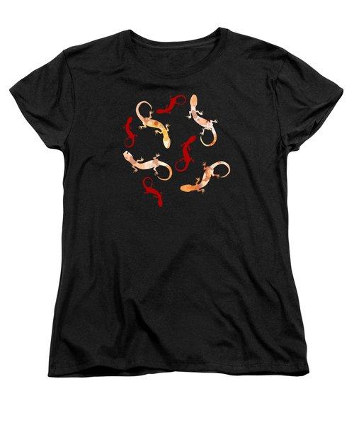 Gecko Pattern Women's T-Shirt (Standard Fit)