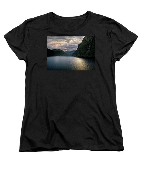 Women's T-Shirt (Standard Cut) featuring the photograph Geiranger Fjord by Jim Hill