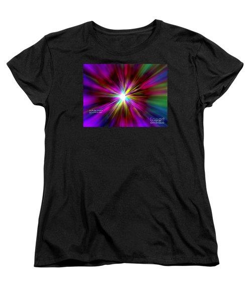 Women's T-Shirt (Standard Cut) featuring the digital art Genesis 1 Verse 3 by Greg Moores