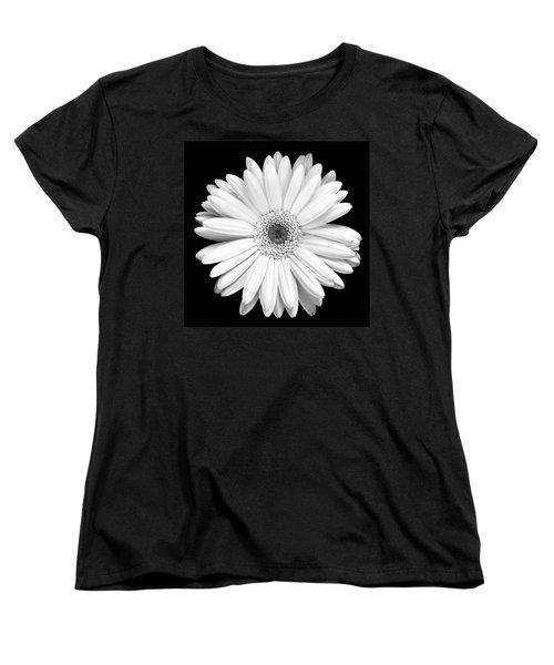 Single Gerbera Daisy Women's T-Shirt (Standard Cut) by Marilyn Hunt