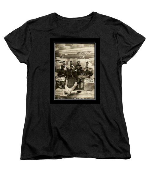 German Military Officers Zeppelin Crew 1913 Women's T-Shirt (Standard Cut) by Peter Gumaer Ogden