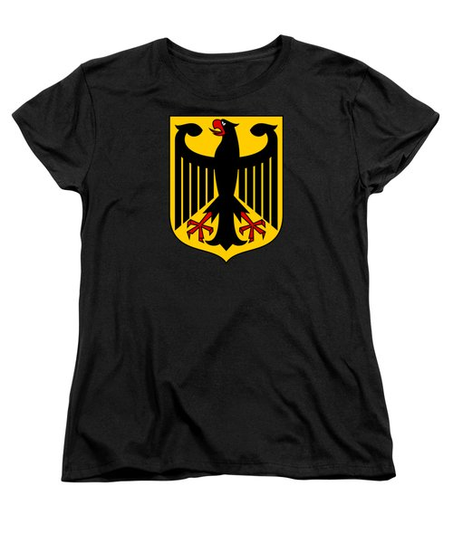 Women's T-Shirt (Standard Cut) featuring the drawing Germany Coat Of Arms by Movie Poster Prints