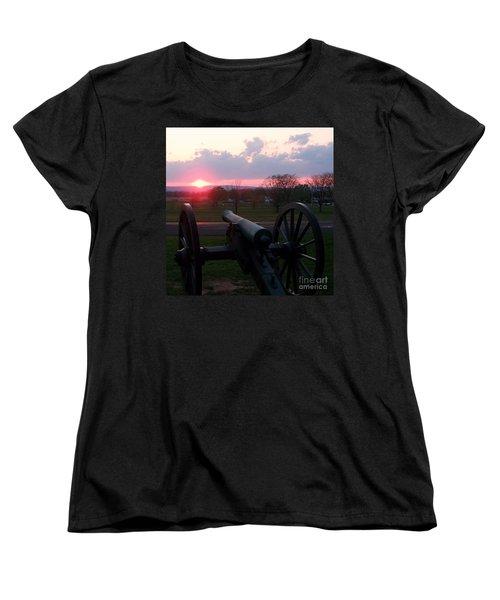 Gettysburg Cannon Women's T-Shirt (Standard Cut) by Eric  Schiabor