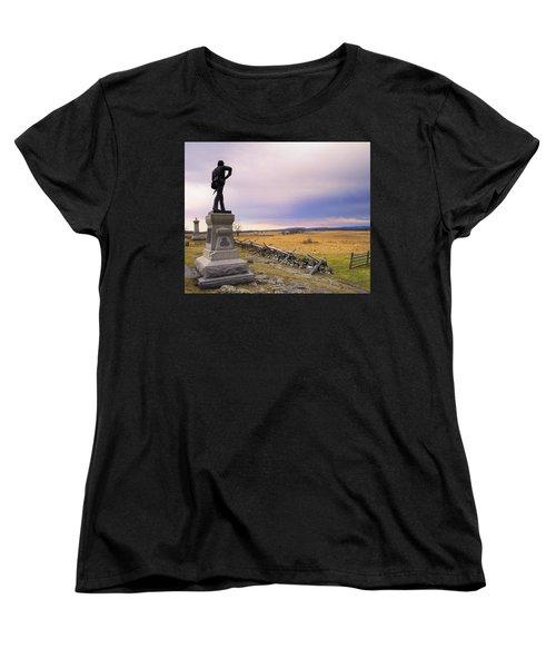 Gettysburg Monument I Women's T-Shirt (Standard Cut) by Marianne Campolongo