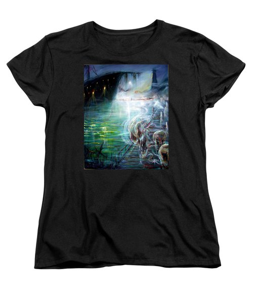 Women's T-Shirt (Standard Cut) featuring the painting Ghost Ship 2 by Heather Calderon