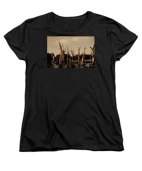 Women's T-Shirt (Standard Cut) featuring the photograph Ghostly Trees V2 by Douglas Barnard