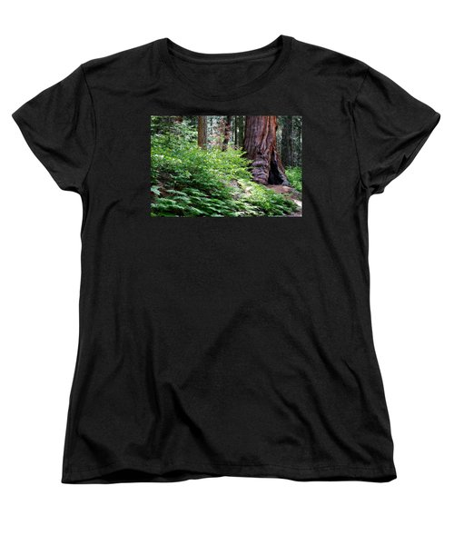 Women's T-Shirt (Standard Cut) featuring the photograph Giant Among The Forest by Lana Trussell