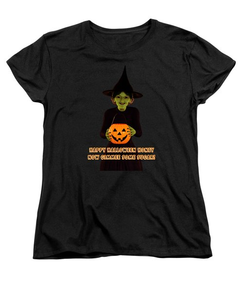 Women's T-Shirt (Standard Cut) featuring the digital art Gimmee Some Sugar Witch by Methune Hively