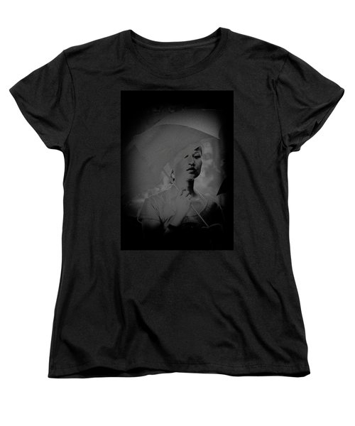 Girl With Umbrella Women's T-Shirt (Standard Cut) by Patrick Kain
