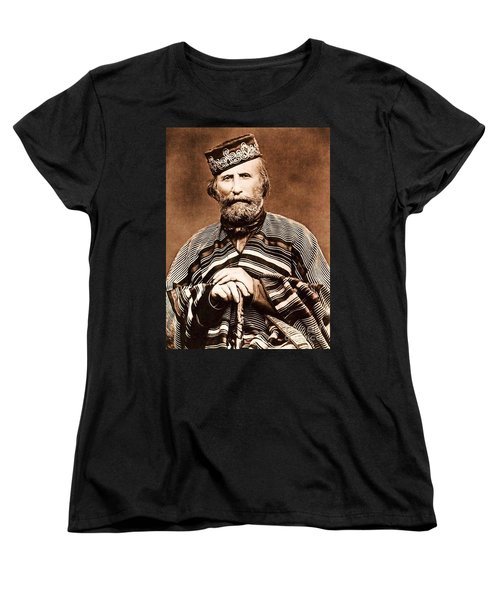 Women's T-Shirt (Standard Cut) featuring the photograph Giuseppe Garibaldi by Roberto Prusso