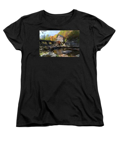 Women's T-Shirt (Standard Cut) featuring the photograph Glade Creek Grist Mill by Steve Stuller