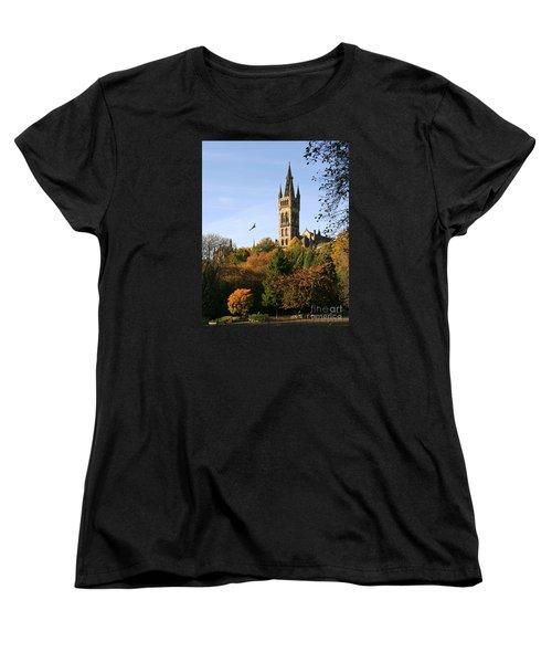 Glasgow University Women's T-Shirt (Standard Cut) by Liz Leyden