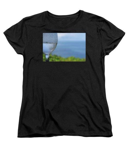 Glass Half Full Women's T-Shirt (Standard Cut) by JoAnn Lense
