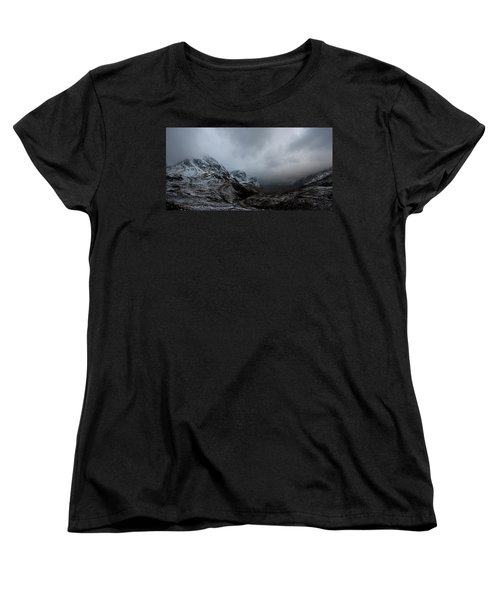 Women's T-Shirt (Standard Cut) featuring the digital art Glencoe - Three Sisters by Pat Speirs
