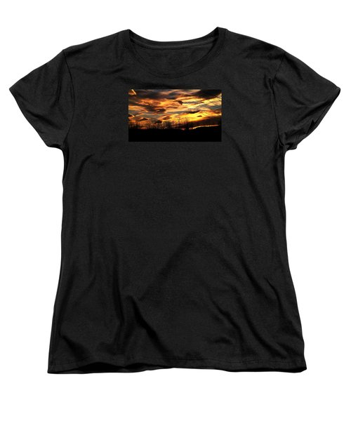 Women's T-Shirt (Standard Cut) featuring the photograph Glorious Maine Sunset by Mike Breau