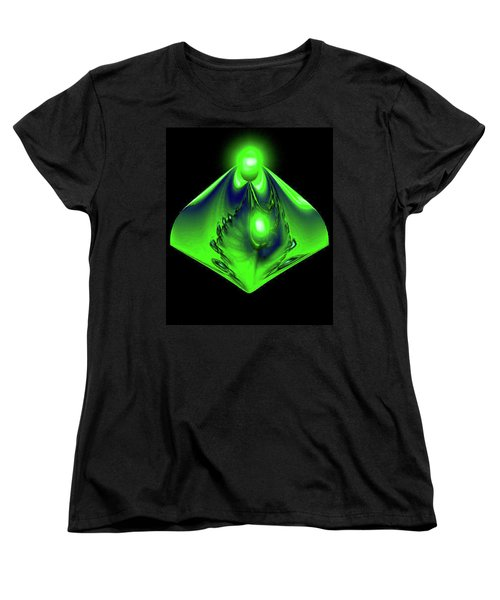 Women's T-Shirt (Standard Cut) featuring the mixed media Glow by Kevin Caudill