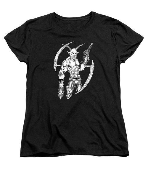 Goatlord Reaper Women's T-Shirt (Standard Cut) by Alaric Barca