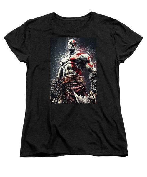 God Of War - Kratos Women's T-Shirt (Standard Cut) by Taylan Apukovska