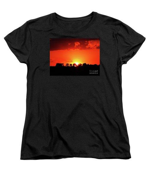 Women's T-Shirt (Standard Cut) featuring the photograph God's Gracful Sunset by J L Zarek