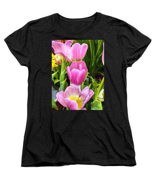 God's Tulips Women's T-Shirt (Standard Cut) by Carlos Avila