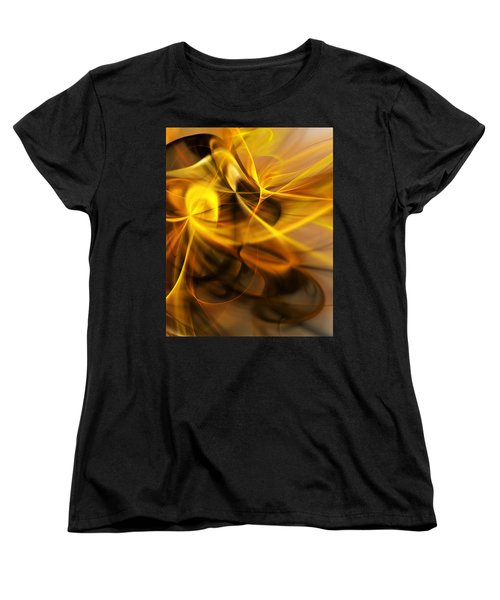 Gold And Shadows Women's T-Shirt (Standard Cut) by David Lane