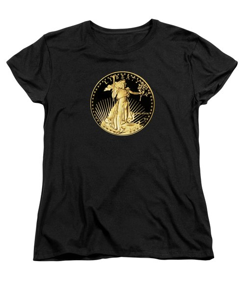 Women's T-Shirt (Standard Cut) featuring the photograph Gold Coin Front by Phyllis Denton