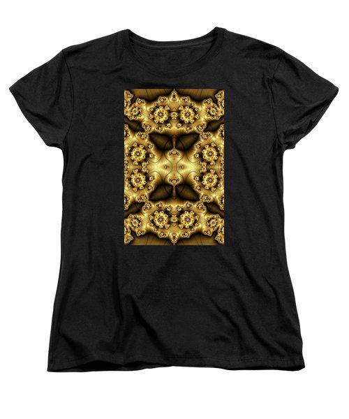 Gold N Brown Phone Case Women's T-Shirt (Standard Cut) by Lea Wiggins