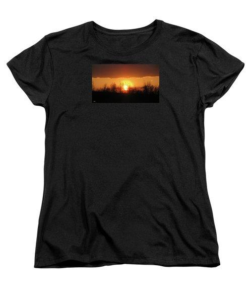 Golden Arch Sunset Women's T-Shirt (Standard Cut) by Debra     Vatalaro