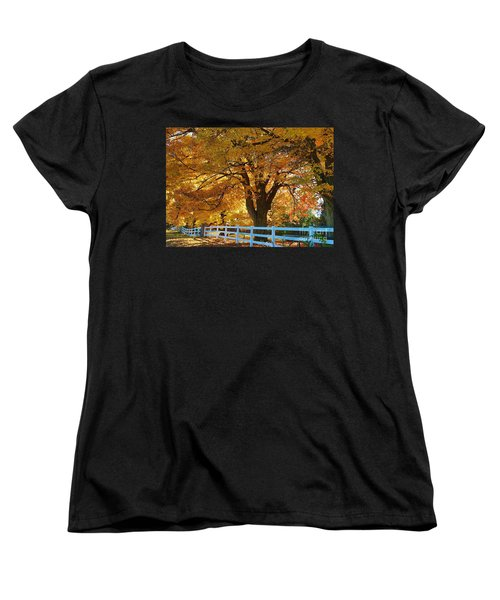 Women's T-Shirt (Standard Cut) featuring the photograph Golden Curtain by Robert Pearson