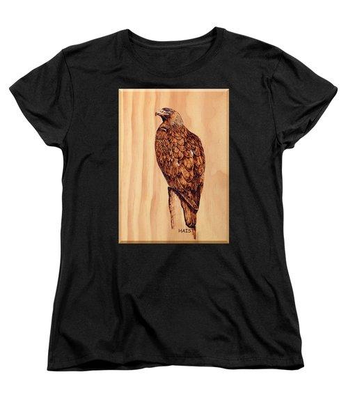 Golden Eagle Women's T-Shirt (Standard Cut) by Ron Haist