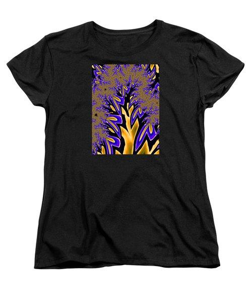 Women's T-Shirt (Standard Cut) featuring the photograph Golden Fractal Tree by Ronda Broatch