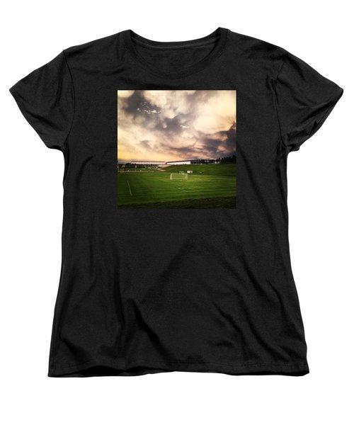Women's T-Shirt (Standard Cut) featuring the photograph Golden Goal by Christin Brodie