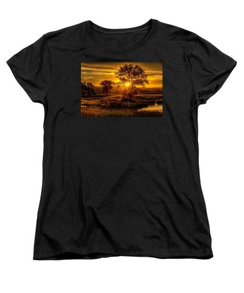 Golden Hour Women's T-Shirt (Standard Cut) by Fiskr Larsen