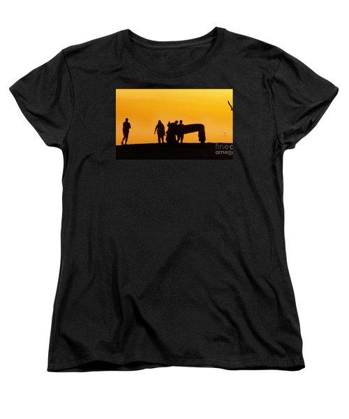 Women's T-Shirt (Standard Cut) featuring the photograph The Golden Hour by Rhonda Strickland