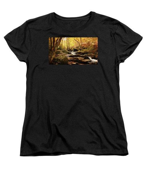 Golden Serenity Women's T-Shirt (Standard Cut) by Rebecca Davis