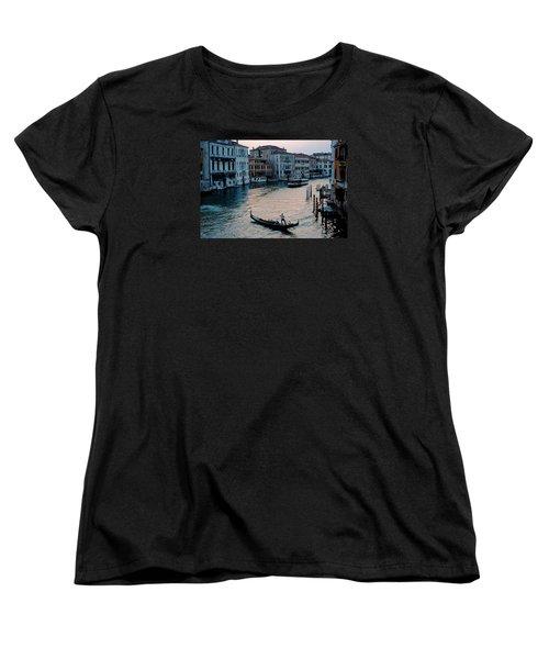 Gondolier On Grand Canal Women's T-Shirt (Standard Cut) by Robert Moss