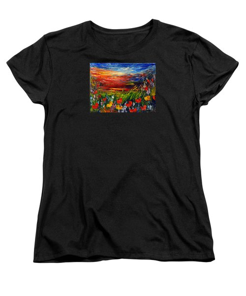 Women's T-Shirt (Standard Cut) featuring the painting Goodnight... by Teresa Wegrzyn