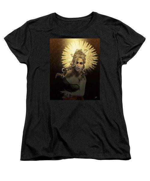 Gorgon Medusa Women's T-Shirt (Standard Cut) by Joaquin Abella