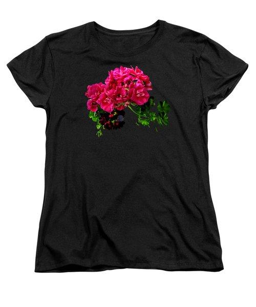 Graceful Geraniums Women's T-Shirt (Standard Cut)