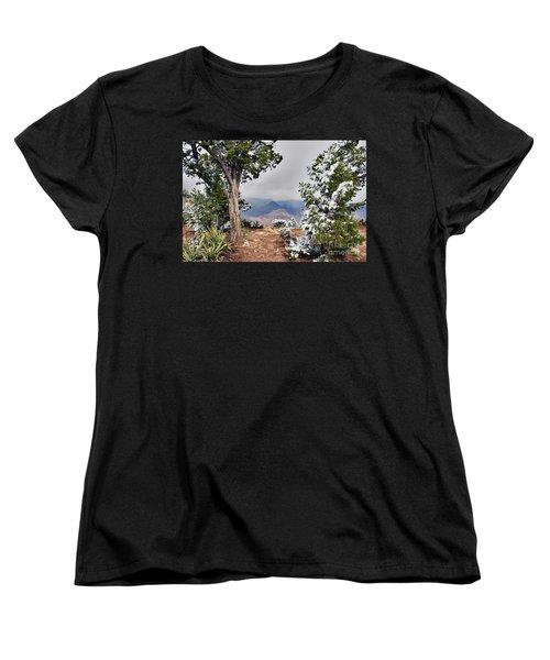 Grand Canyon Through The Trees Women's T-Shirt (Standard Cut) by Debby Pueschel