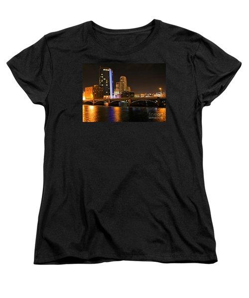 Grand Rapids Mi Under The Lights Women's T-Shirt (Standard Cut) by Robert Pearson