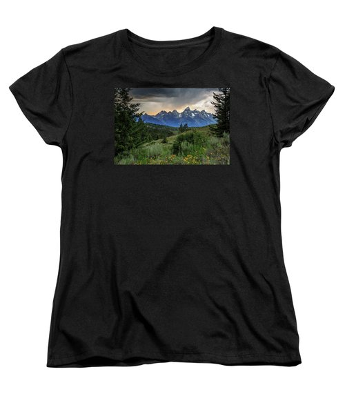 Women's T-Shirt (Standard Cut) featuring the photograph Grand Stormy Sunset by David Chandler