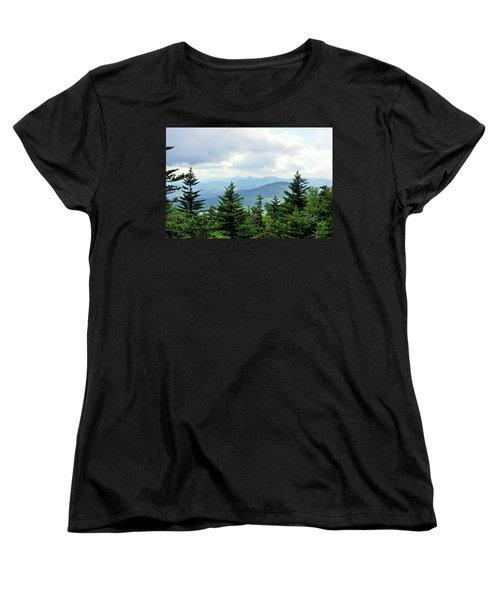 Women's T-Shirt (Standard Cut) featuring the photograph Grandmother Mountain by Meta Gatschenberger