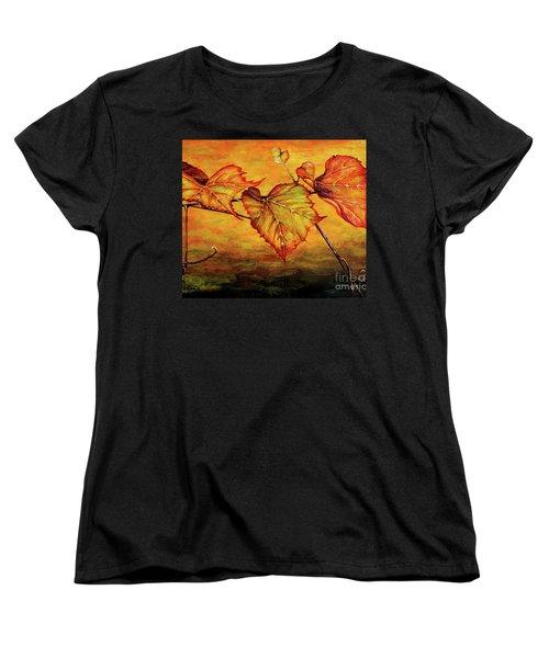 Grape Vine Women's T-Shirt (Standard Cut) by Judy Kirouac