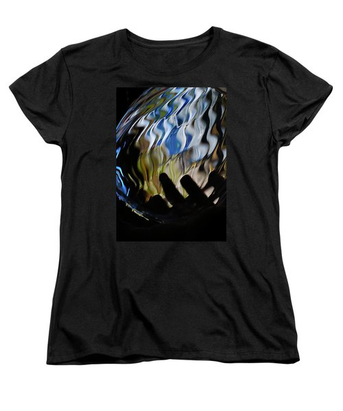 Women's T-Shirt (Standard Cut) featuring the photograph Grasping At Curves by Susan Capuano