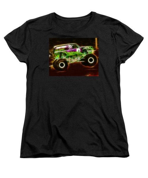 Grave Digger Monster Truck Women's T-Shirt (Standard Cut) by Paul Van Scott